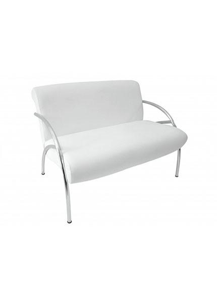 Sofá Branco Br.Cromado