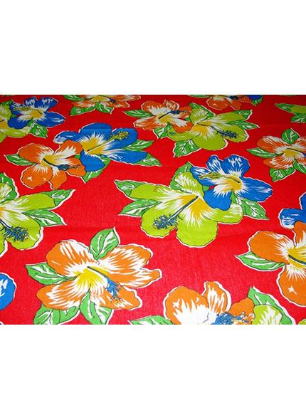 Toalha 1,50X1,50m Floral Chita Vermelha