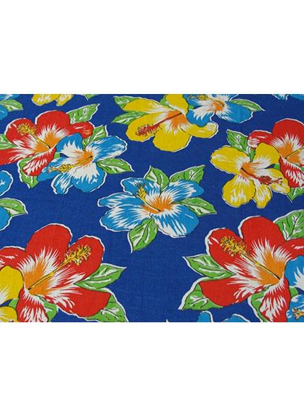 Toalha 1,50X1,50m Floral Chita Azul
