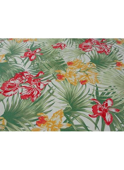 Toalha 1,50X1,50M  Decor Floral Verde/Vermelho