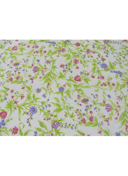 Toalha 1,50X1,50 Floral Pequeno Verde