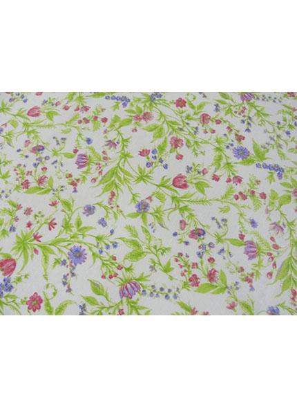 Toalha 1,50X1,50 Floral Pequeni Verde