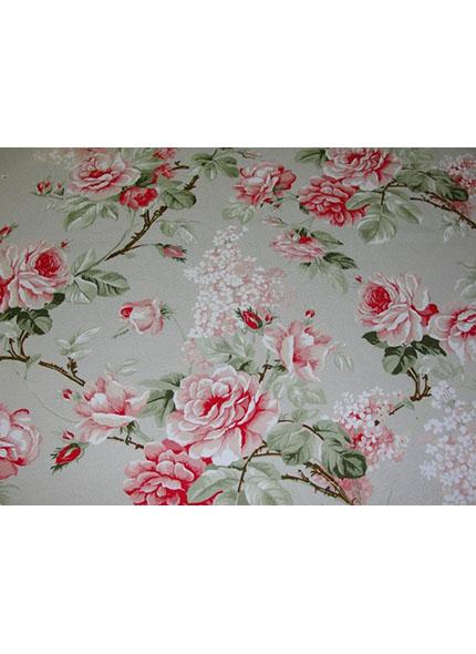 Toalha 1,50X1,50M  Decor Floral Salmão