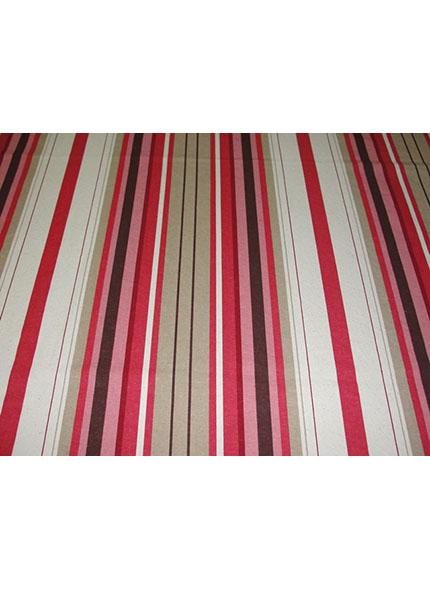Toalha 1,50X1,50M  Decor Listado Vermelho