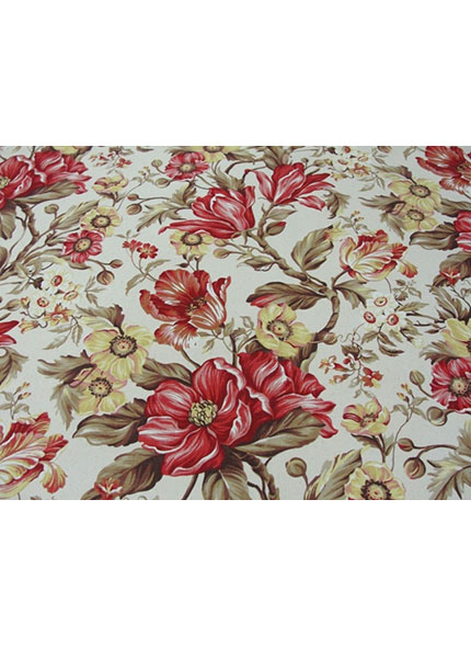 Toalha 1,50X1,50M  Decor Floral Vermelho