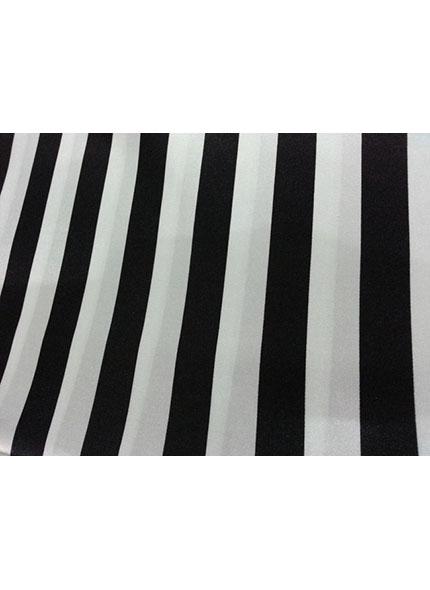 Trilho Mesa 2,00X0,40 Cetim List. Branco/Preto
