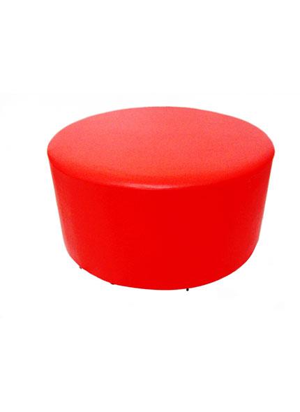 Puff  Redondo Vermelho 1m