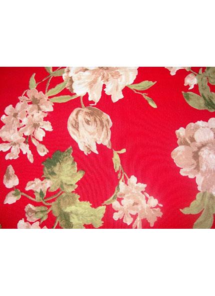 Jogo Americano  Floral Vermelho