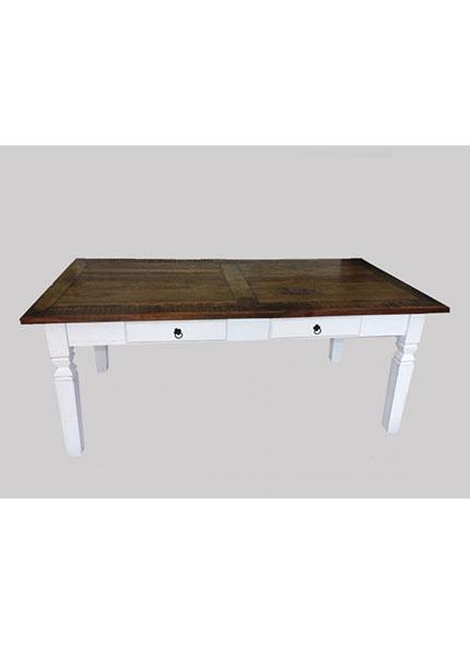 Mesa Branca madeira com Tampo Rústico 2,00x1,00