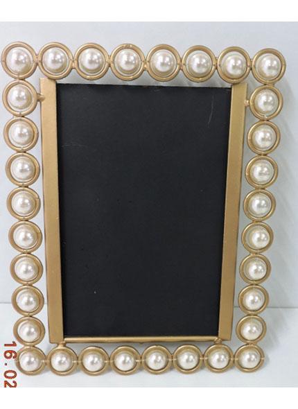 Porta Retrato Dourado Pérola 10X15