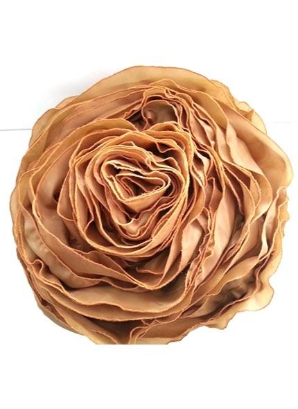 Almofada Cetim Formato Rosa Dourado 40cm Diâmetro