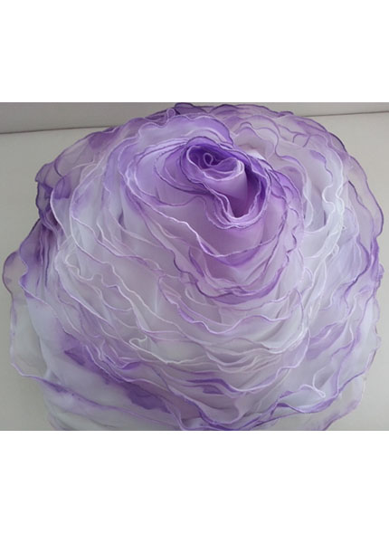 Almofada Cetim Formato Rosa Lilás 40cm Diâmetro
