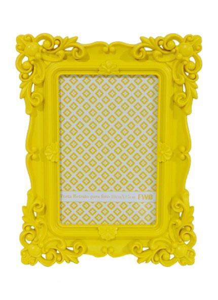 Porta Retrato Amarelo 0,10X0,15