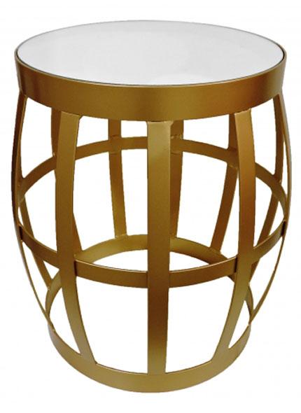 Mesa Garden Apoio Dourada/Espelho