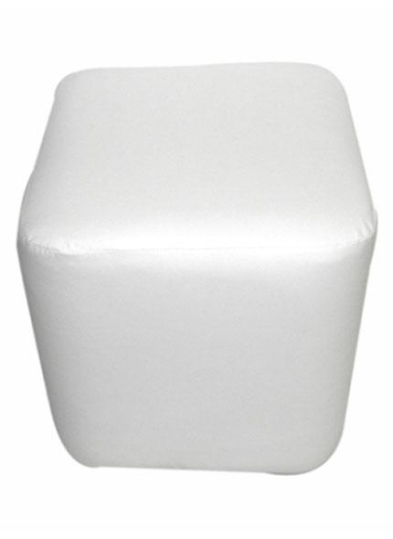 Puff Quadrado Branco G 0,45x0,48