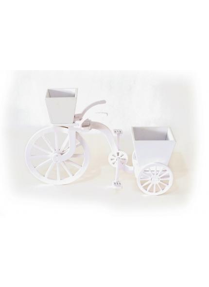 Bicicleta Cachepo Branco