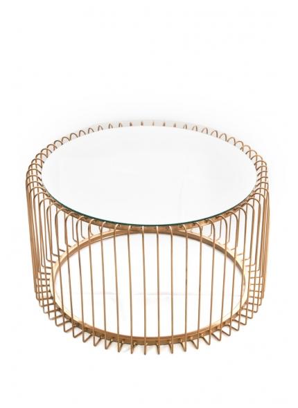 Mesa Centro Dourada Espelho 0,60x0,35