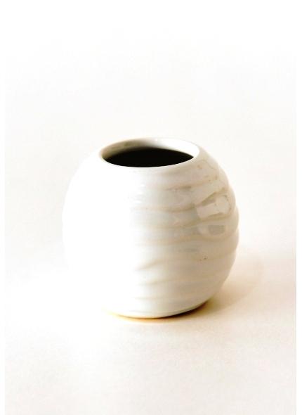 Mini Cachepo Porcela Branco