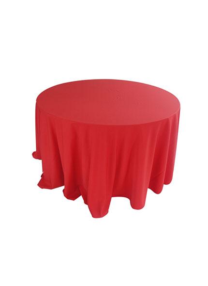 Toalha 3,00 Redonda Oxford Vermelha