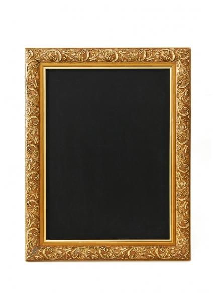 Quadro Negro Pequeno Moldura Dourada