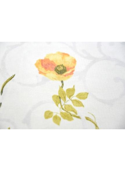 Toalha 1,5x1,5 Voal Floral Amarelo