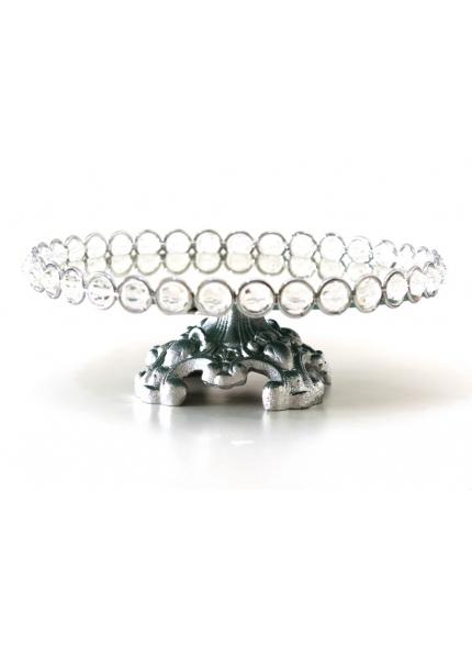 suporte prata cristal 30x10
