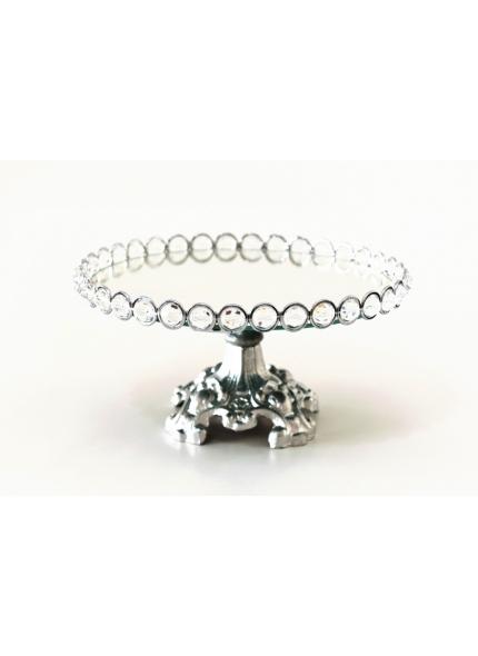 suporte prata cristal 30x15