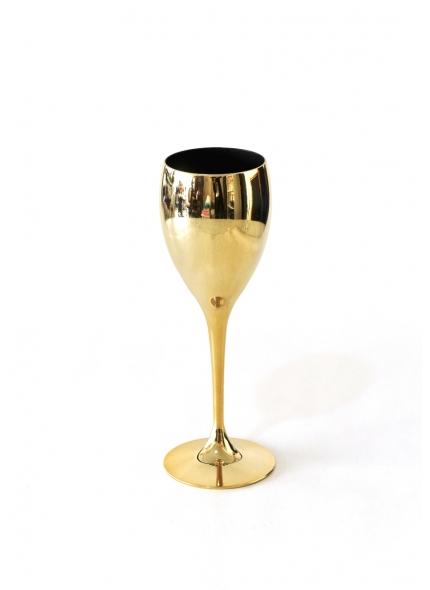 Taça Espumante Dourada Metalizada