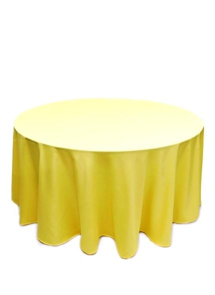 Toalha Redonda Oxford Amarela 3m