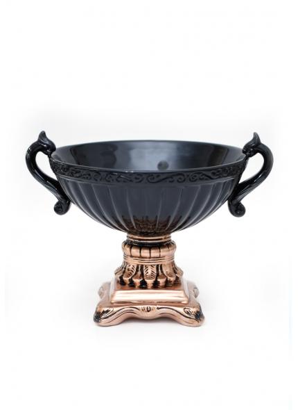 Vaso Taça Imperial Cobre/Preto