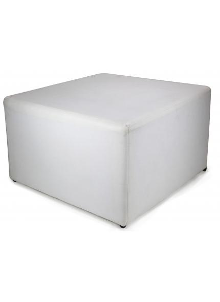 Puff Quadrado Branco 0,80x0,80x0,50