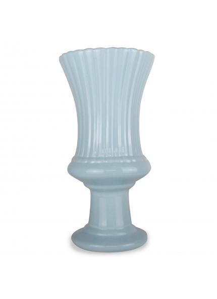 Vaso Cerâmica Azul Bebê 0,34x0,18