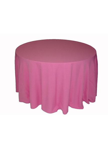 Toalha Redonda Rosa Chiclete