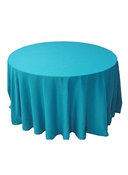 Toalha Redonda Azul Turquesa