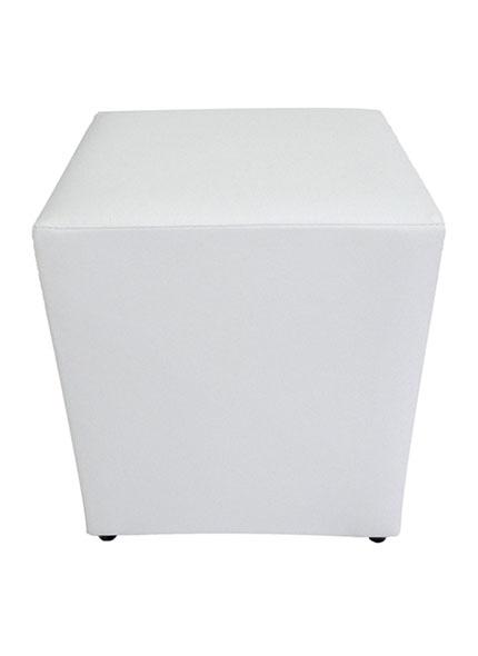 Puff Quadrado Branco 0,35x0,35x0,40