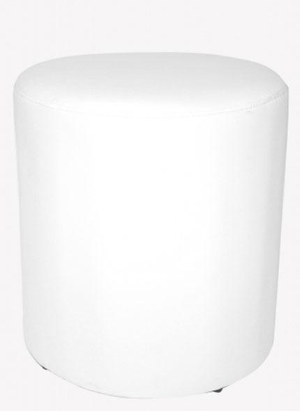 Puff Individual Branco 0,43x0,46